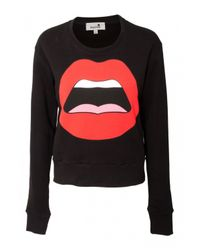 Yazbukey | C'est Ahh Black Cotton Sweatshirt | Lyst
