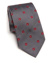 Ike Behar | Gray Neat Box-print Silk Tie for Men | Lyst