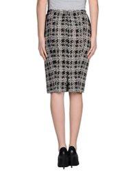 Nina Ricci - Black Knee Length Skirt - Lyst