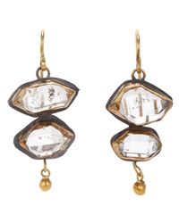 Judy Geib | Metallic Herkimer Diamond, Gold & Sterling Silver Double | Lyst