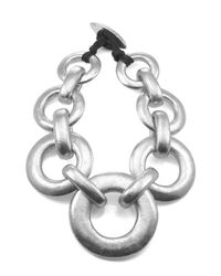 Natori | Metallic Silver Links Necklace | Lyst