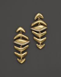 Kara Ross | Metallic 18K Yellow Graduating Hydra Earrings With Diamonds | Lyst