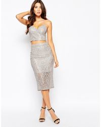 Bardot - Bralet In Metallic Lace - Lyst