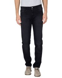 Trussardi - Black Denim Trousers for Men - Lyst