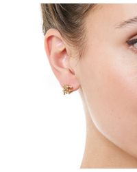Ruth Tomlinson - Metallic Gold Champagne Diamond Stud Earrings - Lyst
