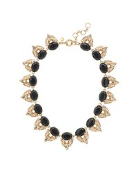 J.Crew - Metallic Crystal Stone Cluster Necklace - Lyst