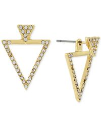 BCBGeneration | Metallic Gold-tone Pavé Triangle Jacket Earrings | Lyst