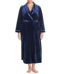 Oscar de la Renta | Blue Velvet Robe | Lyst