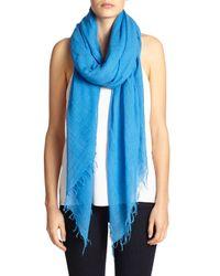 Chan Luu | Blue Cashmere & Silk Scarf | Lyst
