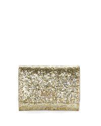 kate spade new york | Metallic Darla Glitter Wallet | Lyst