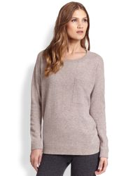 Saks Fifth Avenue | Brown Cashmere Sweatshirt | Lyst
