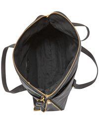 Fossil - Black Preston Leather Tote - Lyst