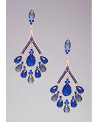 Bebe | Blue Teardrop Statement Earrings | Lyst