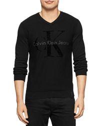 Calvin Klein Jeans | Black Logo Knit Shirt for Men | Lyst