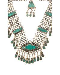 Natalie B. Jewelry | Green Haya Necklace | Lyst