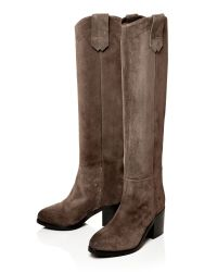 Moda In Pelle | Gray Garcina Medium Casual Long Boots | Lyst