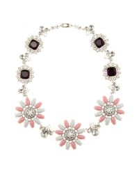 Miu Miu | Metallic Crystal-embellished Necklace | Lyst