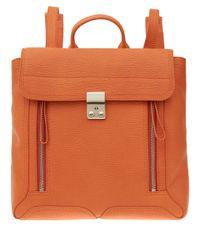 3.1 Phillip Lim | Orange Pashli Leather Backpack for Men | Lyst