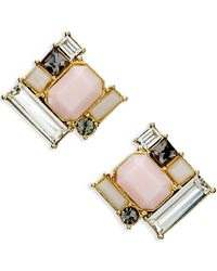 kate spade new york | Metallic Gold-tone Cluster Stone Stud Earrings | Lyst