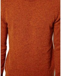 ASOS | Red Lambswool Jumper for Men | Lyst