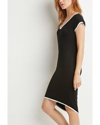 Forever 21 | Black Contemporary Contrast-trimmed Dress | Lyst