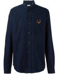 KENZO | Blue 'tiger' Shirt for Men | Lyst
