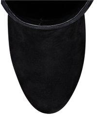Nine West - Black Vintage Suede Heeled Boots - Lyst