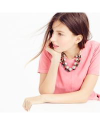 J.Crew - Brown Tortoise And Pavé Crystal Necklace - Lyst