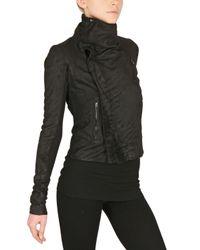 Rick Owens - Black Blistered Biker Nappa Leather Jacket - Lyst