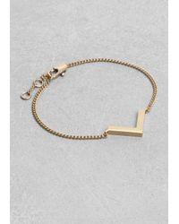 & Other Stories | Metallic Brass Bracelet | Lyst