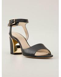 Chloé - Black Chunky Heel Sandals - Lyst