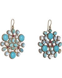 Judy Geib | Blue Multi Gemstone, Gold & Silver Kaleidoscope Earrings | Lyst