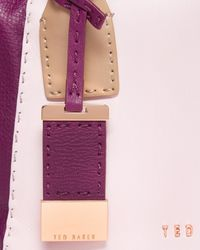 Ted Baker | Pink Colour Block Leather Tote Bag | Lyst