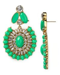 kate spade new york - Green Capri Garden Statement Earrings - Lyst