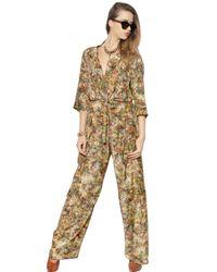 Vivienne Westwood | Multicolor Floral Printed Silk Jumpsuit | Lyst