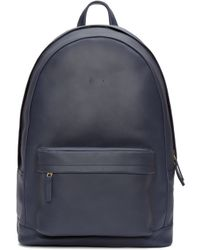 PB 0110 - Blue Navy Leather Ca 6 Backpack - Lyst