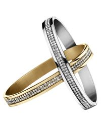 Dyrberg/Kern | Metallic Dyrberg/kern Lorbel Mixed Swarovski Crystal Bangles | Lyst