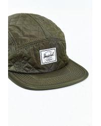 Herschel Supply Co. - Green Glendale Quilted Strapback Hat for Men - Lyst