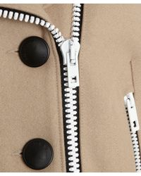 Rag & Bone | Natural Camel Biker Style Francis Peacoat | Lyst