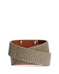 Givenchy | Metallic Shark Tooth Double Wrap Stingray Leather Bracelet | Lyst