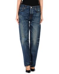 Golden Goose Deluxe Brand - Blue Denim Trousers - Lyst