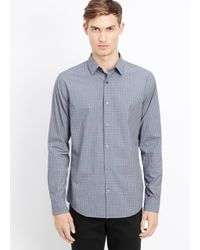 VINCE | Blue Melrose Gingham Button Up for Men | Lyst