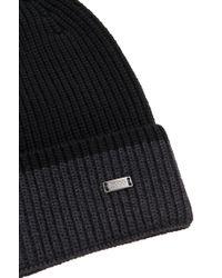 BOSS - Black Hat In New Wool: 'esos' for Men - Lyst