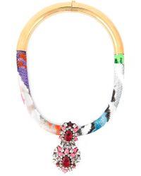 Shourouk - Multicolor 'zulu' Necklace - Lyst