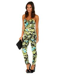 Missguided - Multicolor Alandria Tropical Print Jumpsuit - Lyst