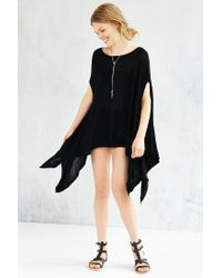 Silence + Noise | Black Alina Poncho Sweater | Lyst
