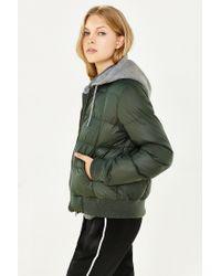 BB Dakota | Green Kiley Puffer Jacket | Lyst