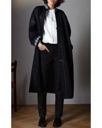 Vilshenko - Black Irina Embroidered Border Coat - Lyst