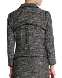 Yigal Azrouël - Black Metallic Tweed Jacket - Lyst