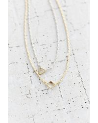 Urban Outfitters | Metallic Open Geo High/low Necklace | Lyst